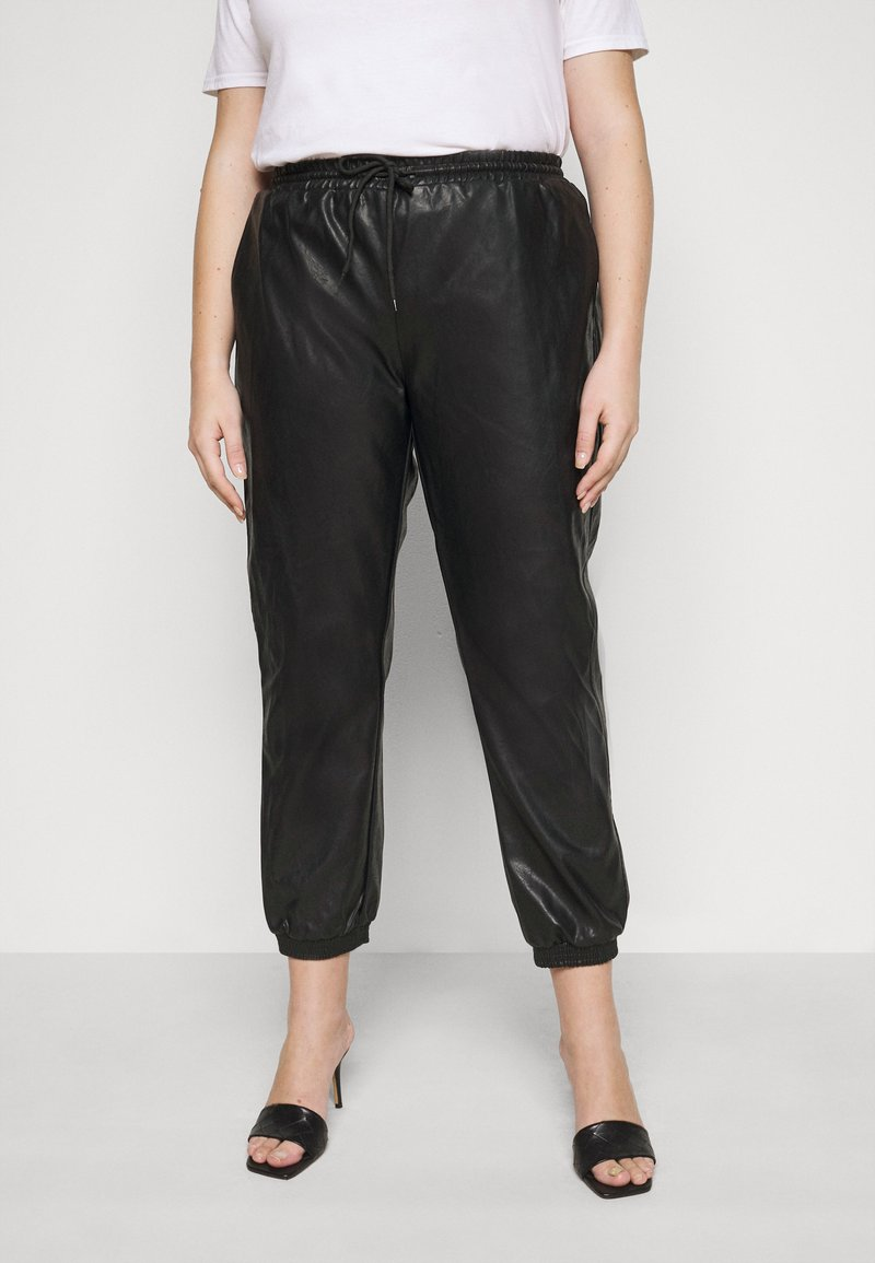 Glamorous Curve - ELASTICATED CUFF - Trousers - black