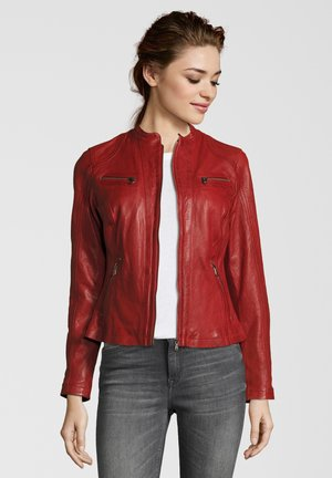 RUBY - Leather jacket - red