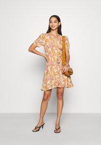 Forever New - TRINA WRAP MINI DRESS - Day dress - dark yellow - 1