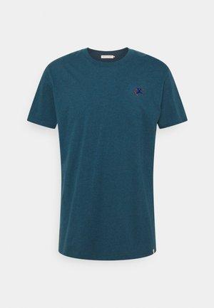 REGULAR - Print T-shirt - petrol melange