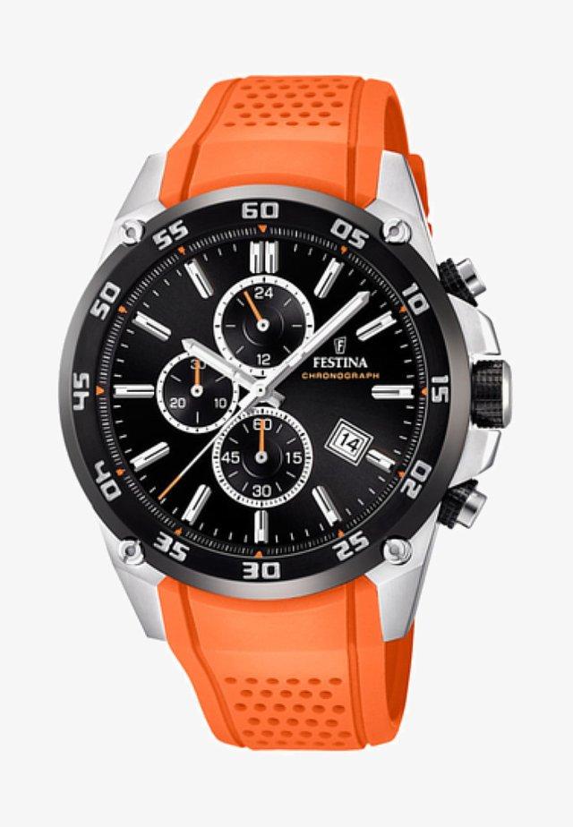 Chronograph watch - orange