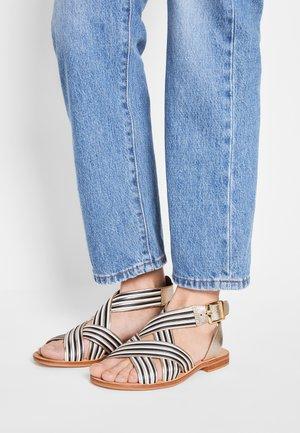 INDIFI - Sandals - noir/blanc