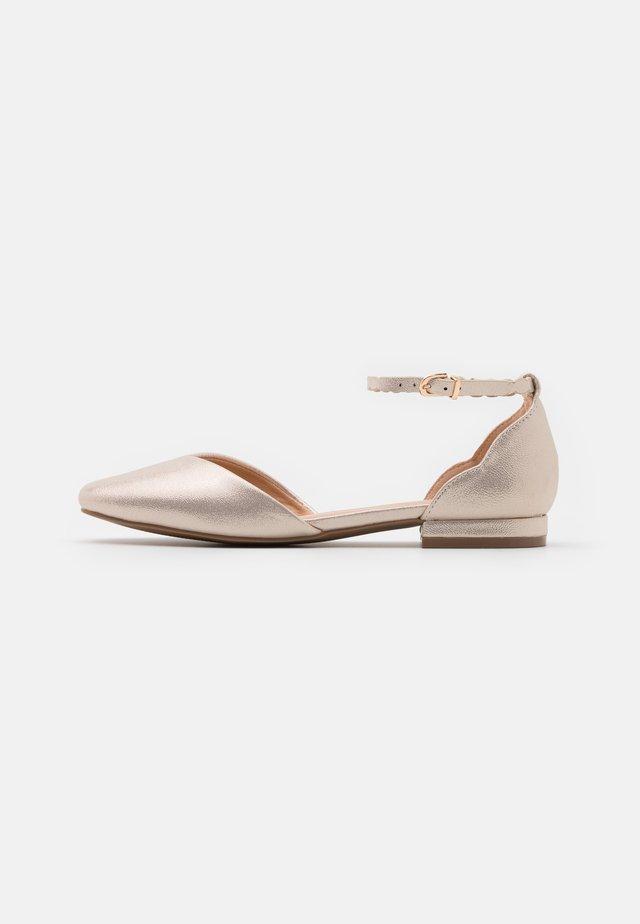 BAKER - Ankle strap ballet pumps - gold