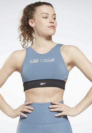 Medium support sports bra - blue