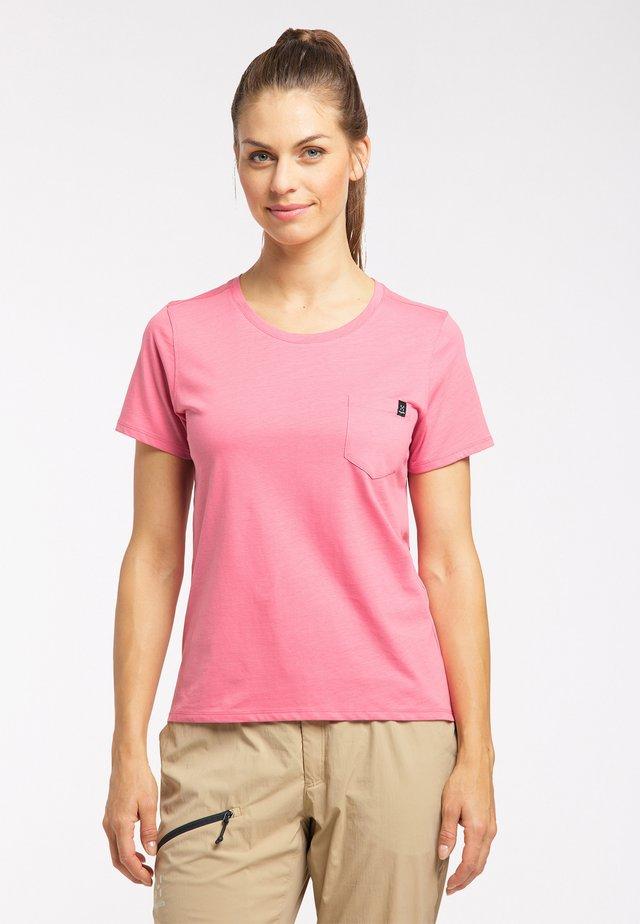 Print T-shirt - tulip pink