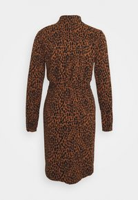 Vila - VIDANIA  - Shirt dress - brown/black - 1