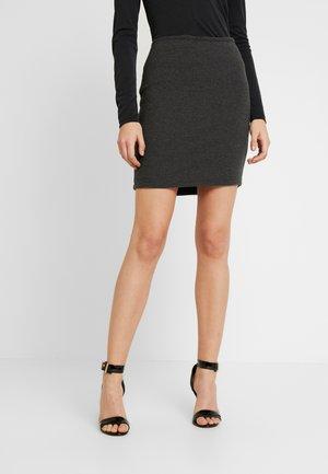 Mini skirt - dark grey melange