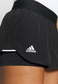 adidas Performance - CLUB - Sports shorts - black/silver/white - 4