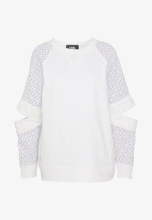 CUT OUT - Sweatshirt - white