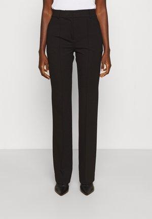 SLIM BOOTCUT PANT - Kalhoty - black