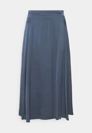 A LINE MIDI SKIRT PANELS SLITS - A-line skirt - blue
