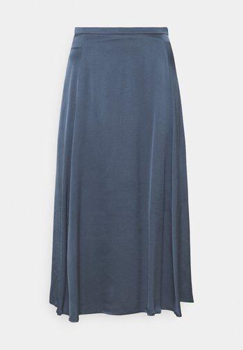 A LINE MIDI SKIRT PANELS SLITS - A-line skirt - blue