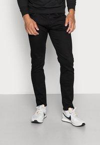 G-Star - 3301 SLIM FIT - Slim fit jeans - elto nero black superstretch/pitch black - 0