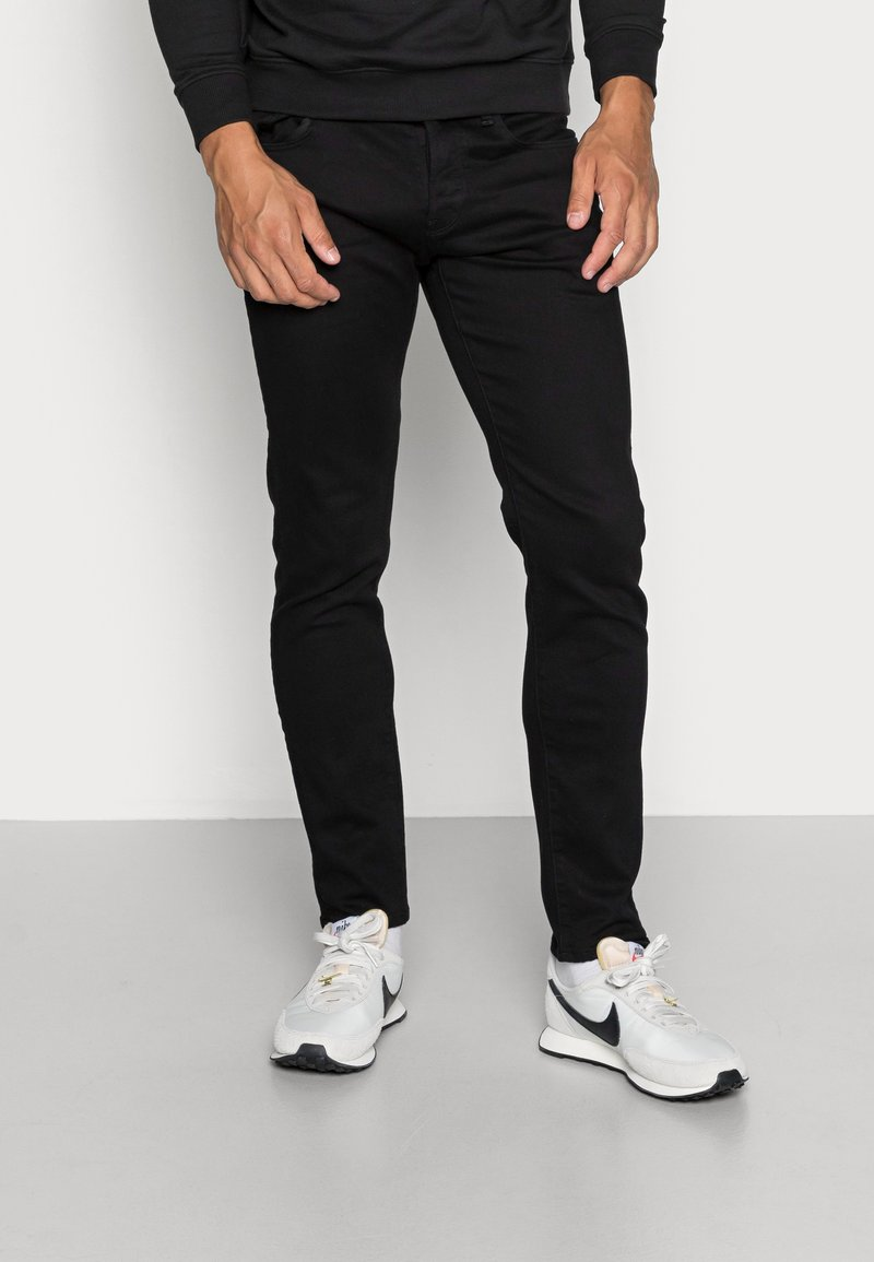 G-Star - 3301 SLIM FIT - Slim fit jeans - elto nero black superstretch/pitch black