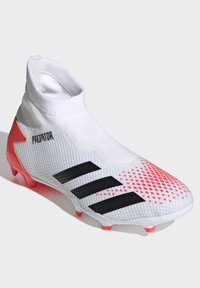 adidas Performance - PREDATOR 20.3 FIRM GROUND BOOTS - Moulded stud football boots - white - 3