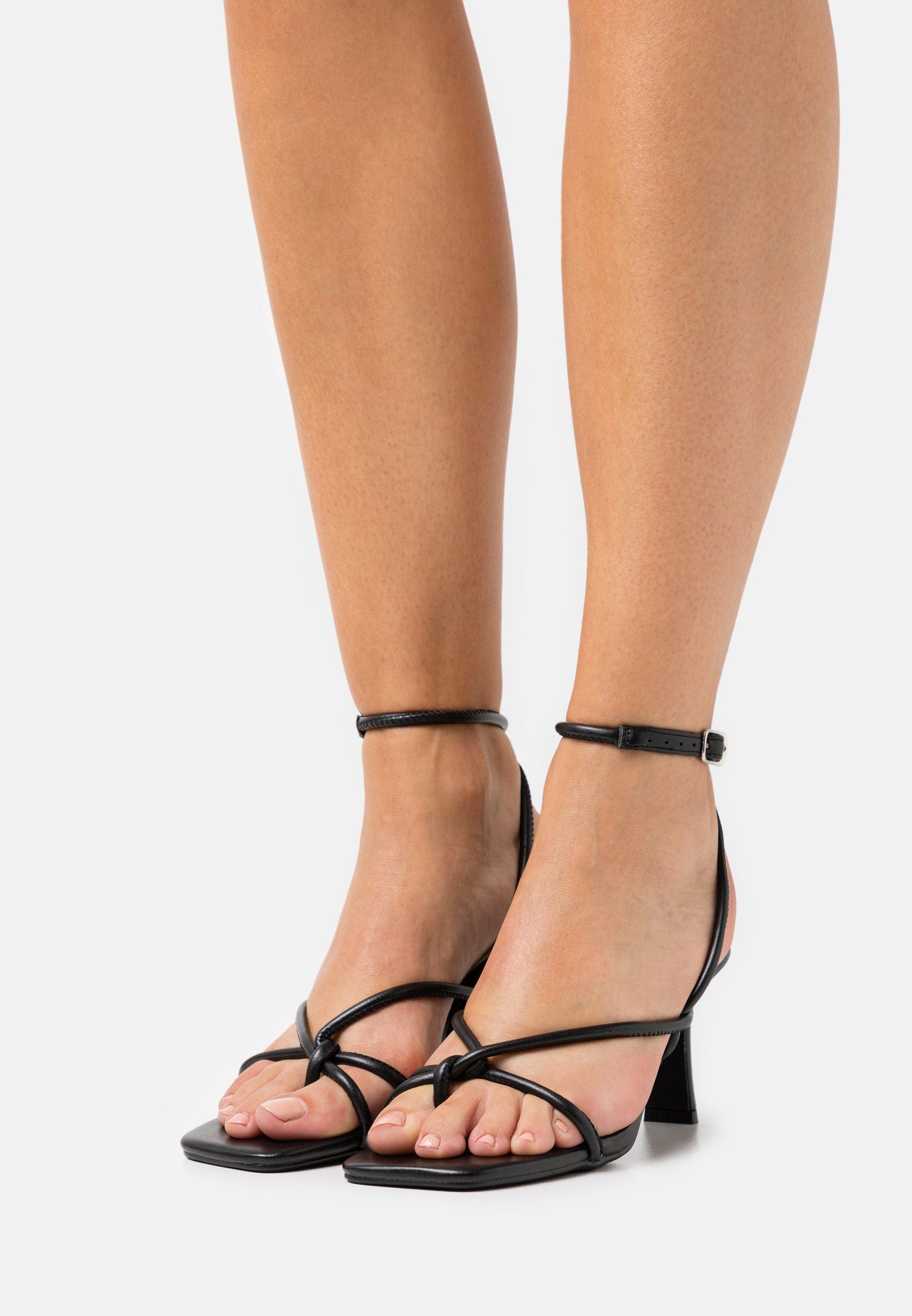 Women CROSS OVER ASYM MID HEELED - T-bar sandals