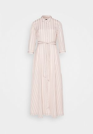 SAVANNAH MAXI - SOFT SATIN - Shirt dress - black stripe