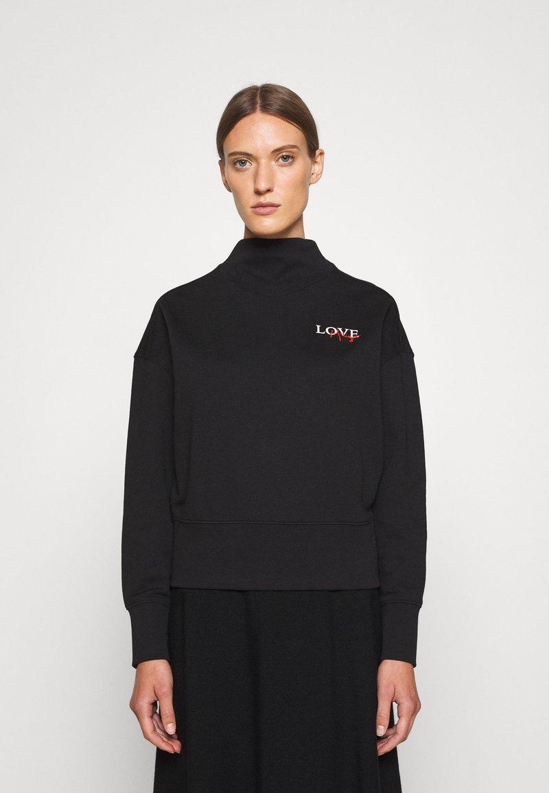 HUGO - DAKERSTIN - Športni pulover - black