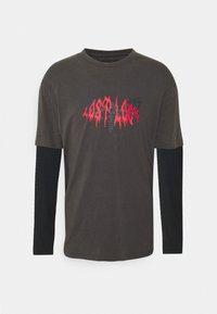 YOURTURN - UNISEX - T-shirt med print - black/dark grey - 0