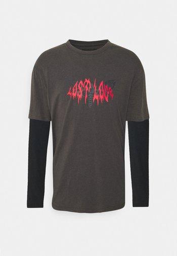 UNISEX - T-shirt imprimé - black/dark grey