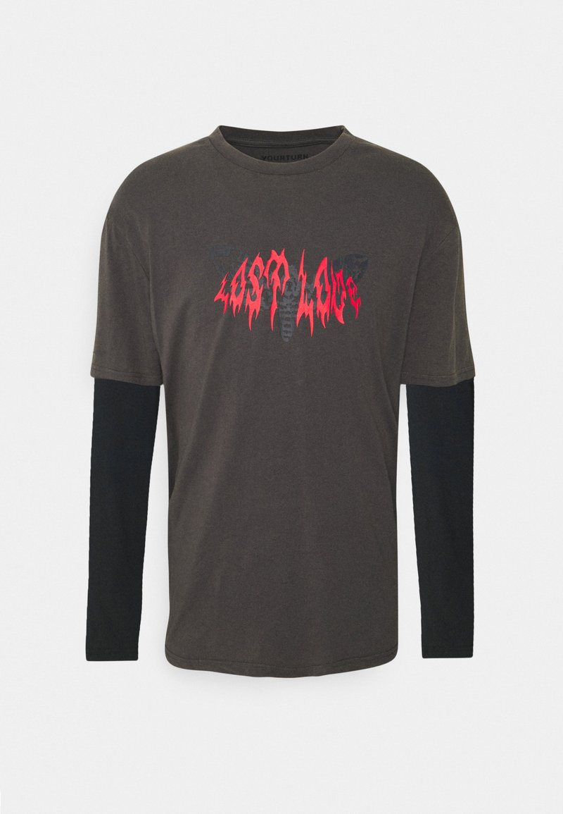 YOURTURN - UNISEX - T-shirt med print - black/dark grey