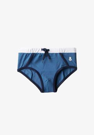 MALINDI - Swimming briefs - denim blue/deep blue/bianco
