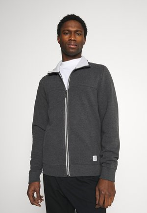 WITH CUTLINE - Sudadera con cremallera - dark grey melange