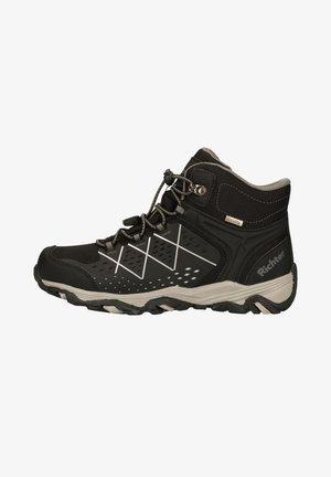 Lace-up ankle boots - black/ash