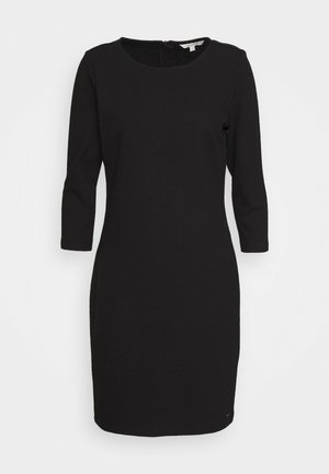 STRUCTURED DRESS - Cocktailjurk - deep black
