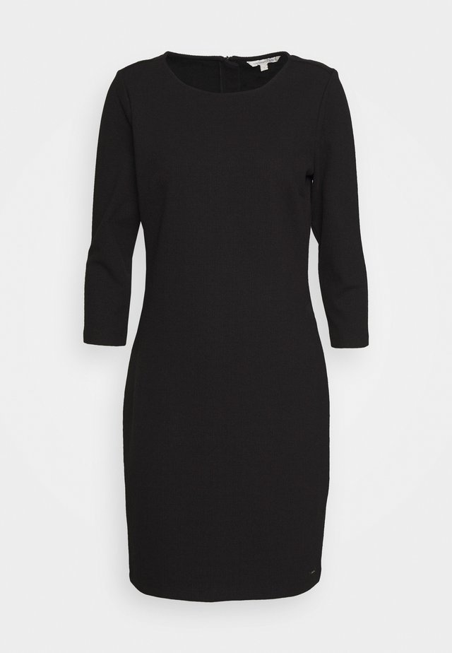 STRUCTURED DRESS - Vestido de cóctel - deep black