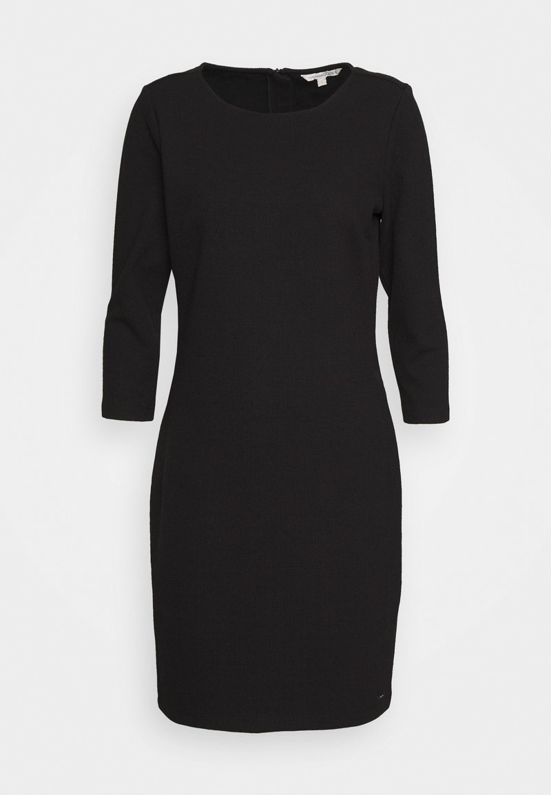 TOM TAILOR DENIM - STRUCTURED DRESS - Cocktail dress / Party dress - deep black