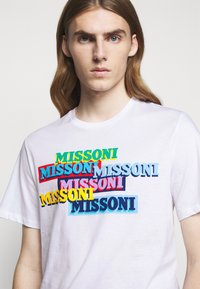Missoni - SHORT SLEEVE  - T-shirt imprimé - white - 3