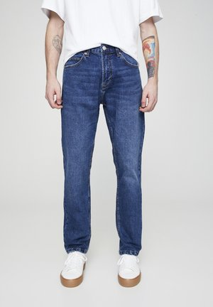 Straight leg jeans - mottled light blue