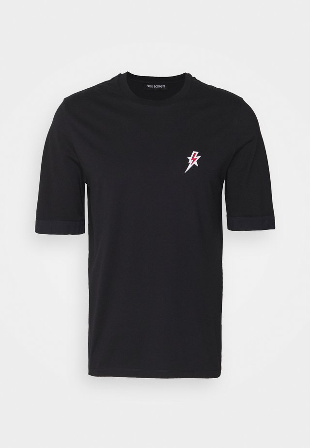 TRAVEL STAR BOLT BADGE - T-shirt basic - black/red