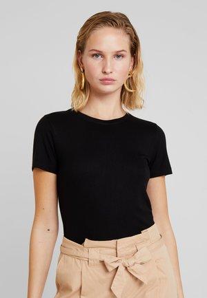 HARVEY - Basic T-shirt - black