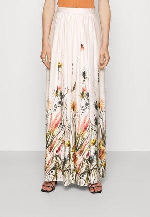 Maxi skirt - sandshell/mulicolor