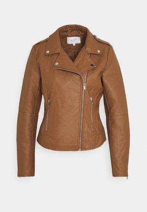 VICARA - Faux leather jacket - tortoise shell