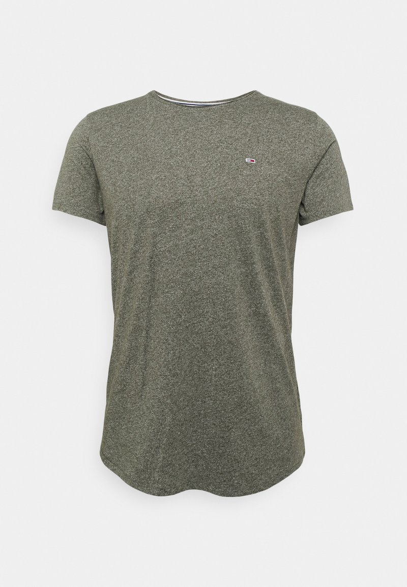Tommy Jeans - JASPE NECK - Basic T-shirt - dark olive