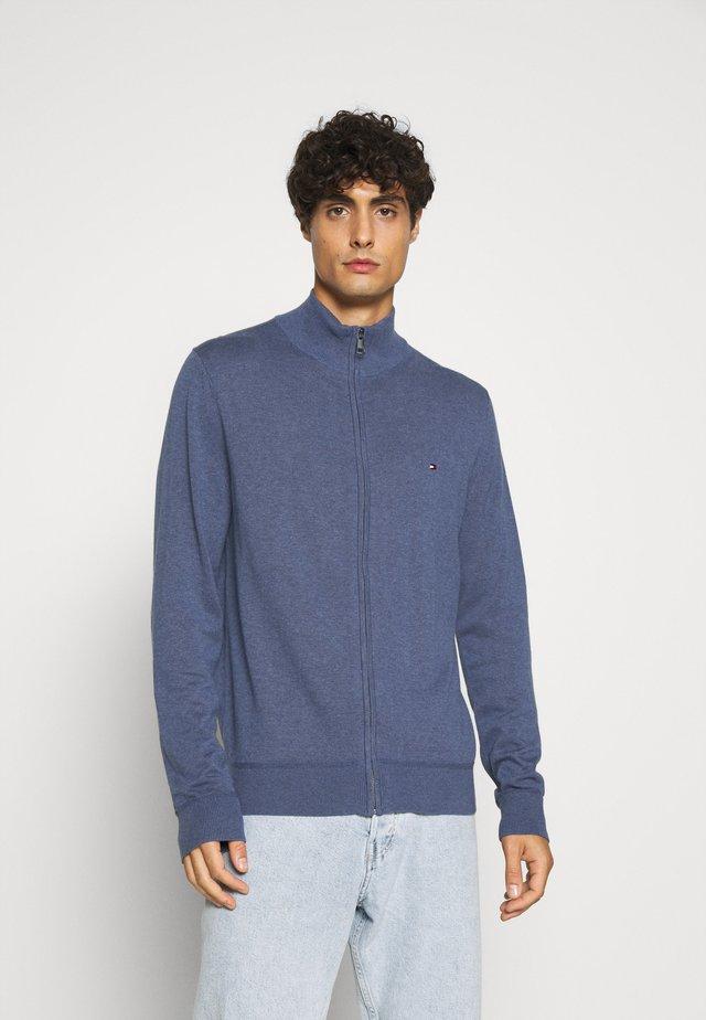 ZIP THROUGH - Cardigan - blue