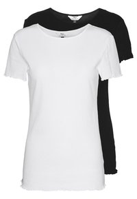 LETTUCE EDGE TEE 2 PACK  - Basic T-shirt - black/white