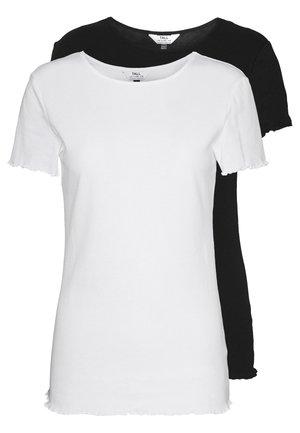 LETTUCE EDGE TEE 2 PACK  - Jednoduché triko - black/white
