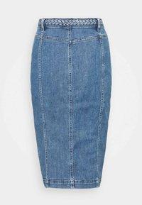 Pinko - BRUNA GONNA - Pencil skirt - blue denim - 1
