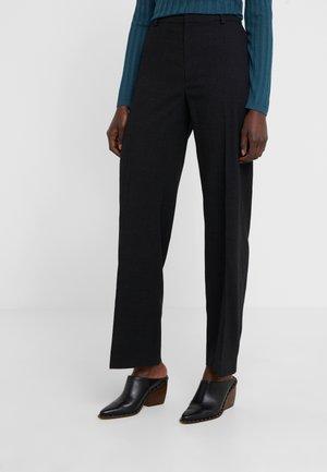 HUTTON TROUSER - Spodnie materiałowe - black