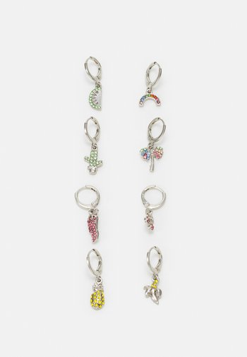 EARRINGS 4 PACK - Earrings - silver-coloured
