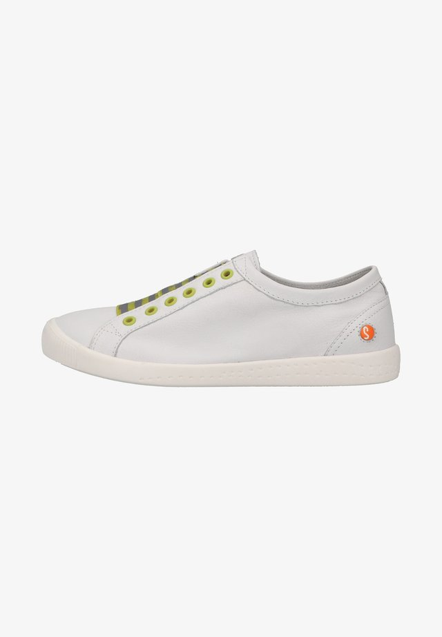 Sneakers laag - white/yellow elastic