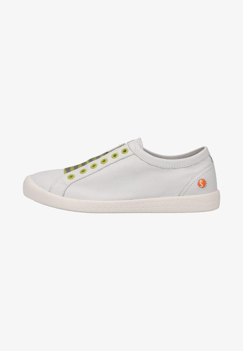 Softinos - Sneakers laag - white/yellow elastic