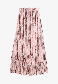 Abercrombie & Fitch - RUFFLE HEM SKIRT - Gonna a campana - light pink - 0