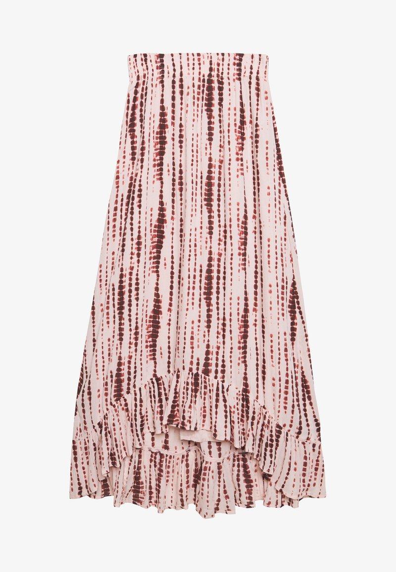 Abercrombie & Fitch - RUFFLE HEM SKIRT - Gonna a campana - light pink