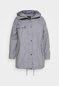 CURVE SHORT RAINCOAT - Vodotěsná bunda - light grey