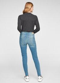 QS by s.Oliver - Long sleeved top - black melange - 2